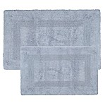 Nottingham Home Reversible Bath Mat in Silver (Set of 2)