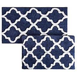 Nottingham Home Trellis Bath Mat (Set of 2)