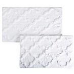 Nottingham Home Trellis Bath Mat (Set of 2) in White