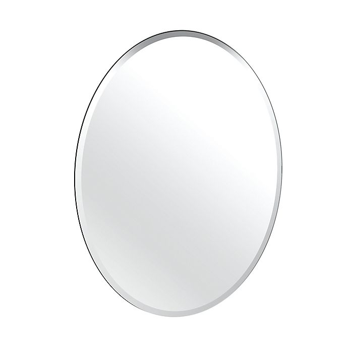 Alternate image 1 for Gatco® Flush Mount Frameless 24-Inch x 32-Inch Oval Mirror