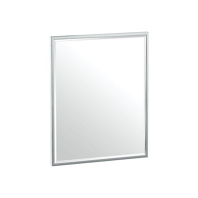 Alternate image 1 for Gatco® Flush Mount Framed 20.5-Inch x 25-Inch Rectangle Mirror in Chrome