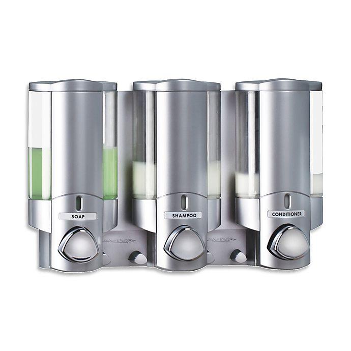 Alternate image 1 for Aviva 3-Chamber Soap Dispenser in Satin Silver