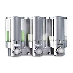 Aviva 3-Chamber Soap Dispenser in Satin Silver