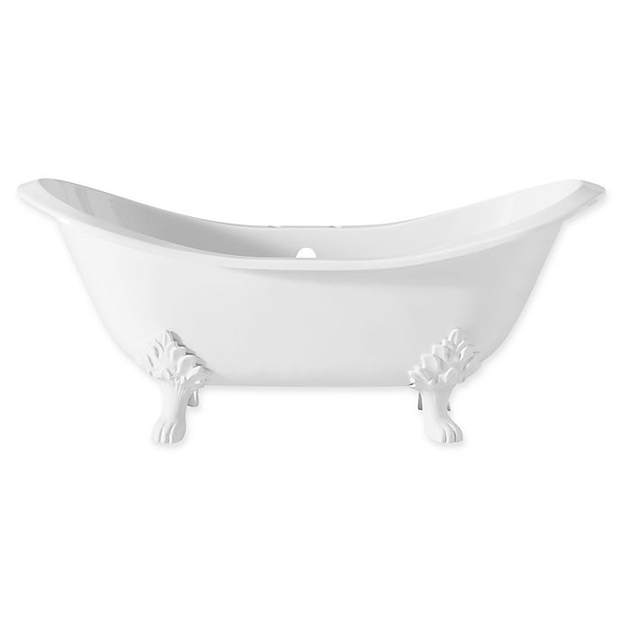 Alternate image 1 for Cheviot Regency 72-Inch Cast Iron Bathtub with 6-Inch Drill and Lion Feet