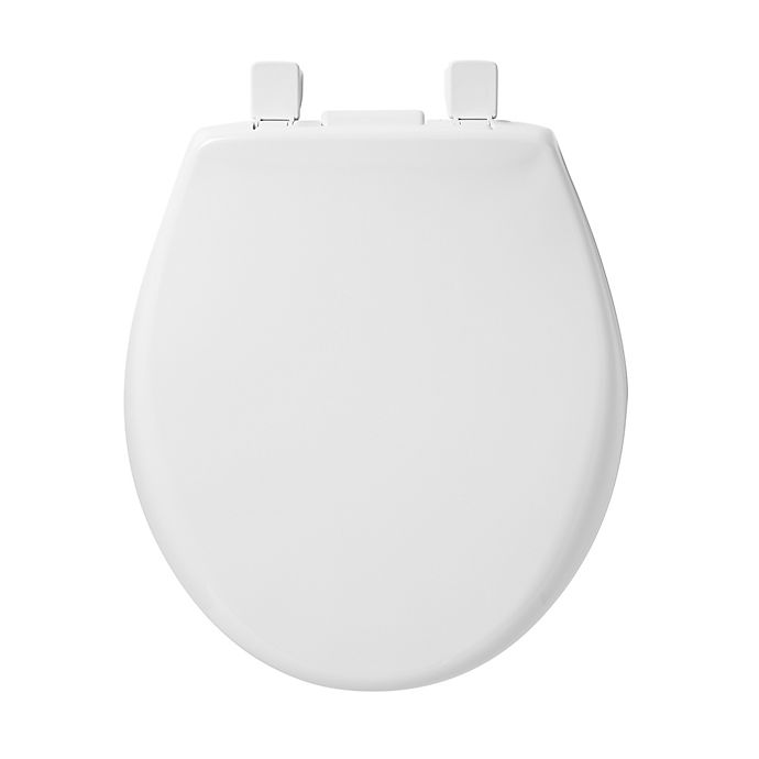 Alternate image 1 for Mayfair Round Closed Front Plastic Toilet Seat with Whisper Close and iLumaLight in White