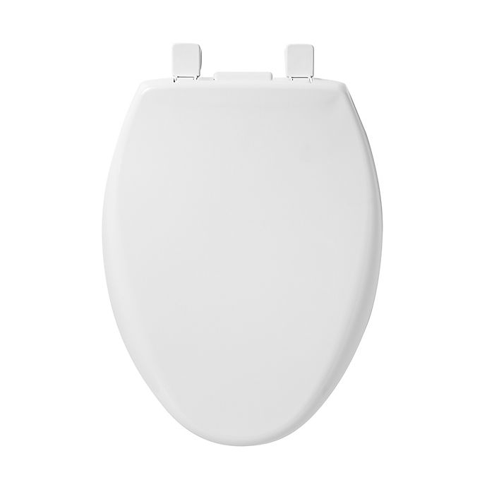 Alternate image 1 for Mayfair Elongated Closed Front Plastic Toilet Seat with Whisper Close and iLumaLight in White