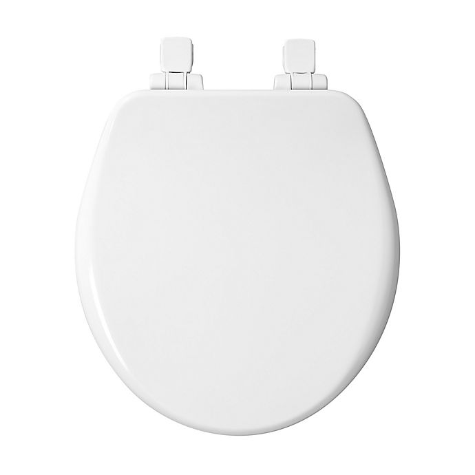 Alternate image 1 for Mayfair Round Closed Front Molded Wood Toilet Seat in White