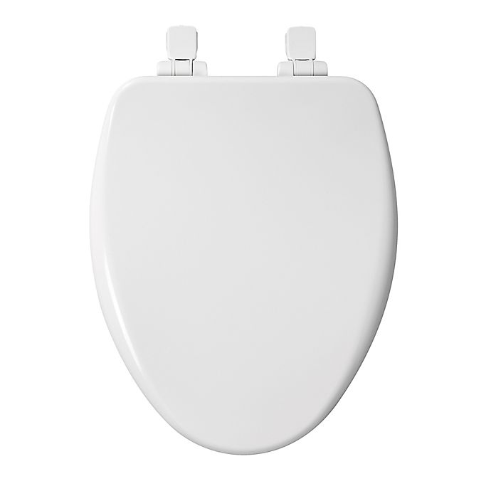 Alternate image 1 for Mayfair Elongated Closed Front Molded Wood Toilet Seat in White