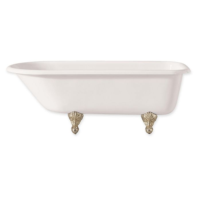Alternate image 1 for Cheviot Products Traditional 2092-WW-PN 54-Inch Cast Iron Bath Tub in White/Polished Nickel