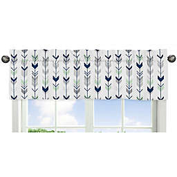 Sweet Jojo Designs® Mod Arrow Print Window Valance in Grey/Mint