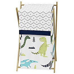 Sweet Jojo Designs® Mod Dinosaur Laundry Hamper in Turquoise/Navy