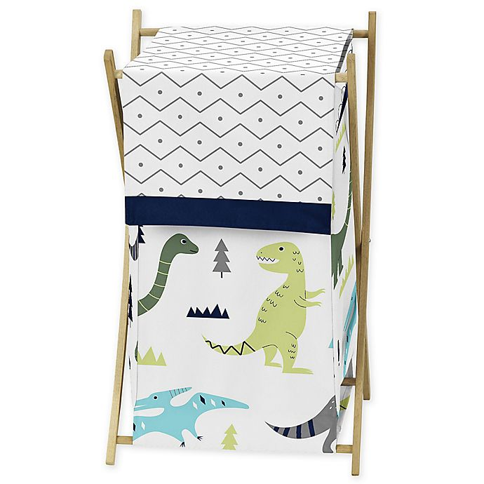 Alternate image 1 for Sweet Jojo Designs® Mod Dinosaur Laundry Hamper in Turquoise/Navy