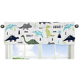Sweet Jojo Designs® Mod Dinosaur Print Window Valance in Turquoise/Navy