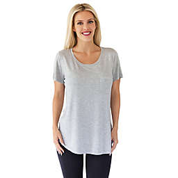 Belly Brandit® Perfect Nursing T-Shirt in Heather Grey