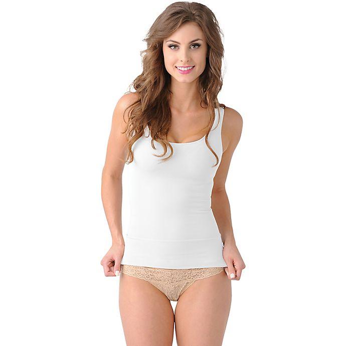 Alternate image 1 for Belly Brandit® Mother Tucker® Scoop Neck Tank in White