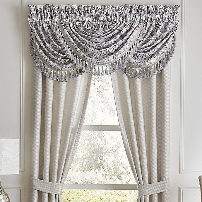 Alternate image 1 for Croscill® Seren Waterfall Swag Valance in Blue
