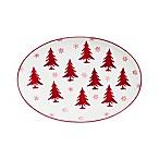 Euro Ceramica Winterfest Oval Platter