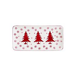 Euro Ceramica Winterfest Rectangular Platter