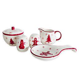 Euro Ceramica Winterfest 5-Piece Tableware Set