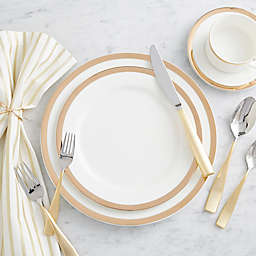 Nevaeh® White by Fitz and Floyd® Gold Band Dinnerware Collection