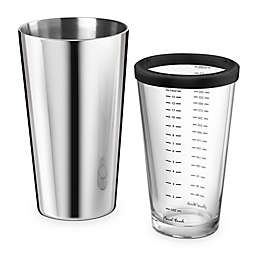 Final Touch Double-Wall Boston Cocktail Shaker in Stainless Steel/Glass