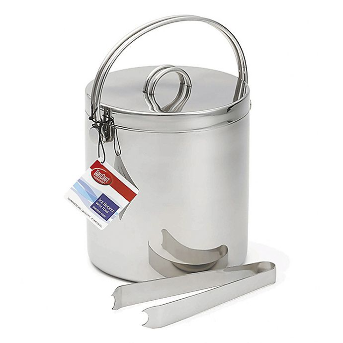 Alternate image 1 for Tablecraft Products Double Wall Stainless Steel Ice Bucket with Tongs