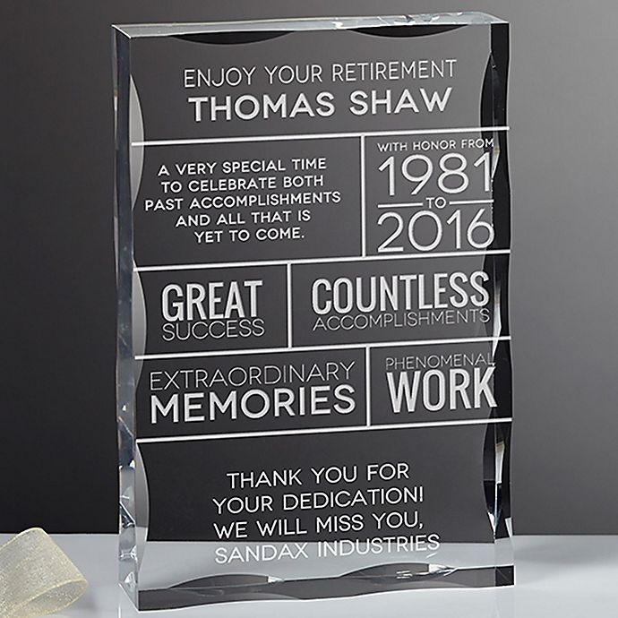 Alternate image 1 for Retirement Wishes Keepsake Block