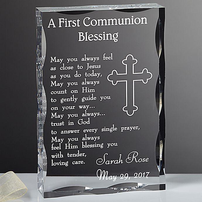 Alternate image 1 for Communion Blessing Engraved Keepsake