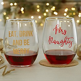 Christmas Celebrations 21 oz. Stemless Wine Glass