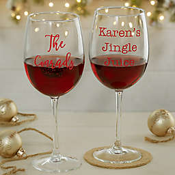 Christmas Celebrations Personalized 19.25 oz. Red Wine Glass