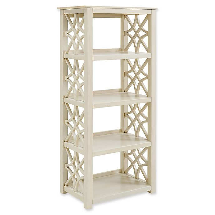 Alternate image 1 for Linon Home Whitley Bookcase in Antique White