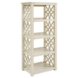 Linon Home Whitley Bookcase in Antique White
