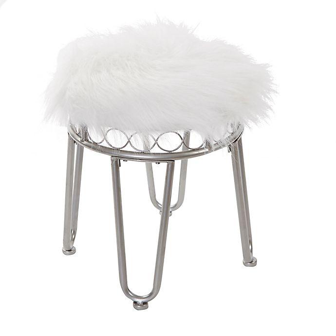 Tremendous Silverwood Hannah Vanity Stool With Hairpin Legs Bed Bath Creativecarmelina Interior Chair Design Creativecarmelinacom