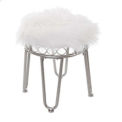 Silverwood Hannah Vanity Stool with Hairpin Legs