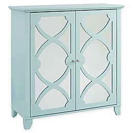 Linon Home Large Cabinet with Mirror Door