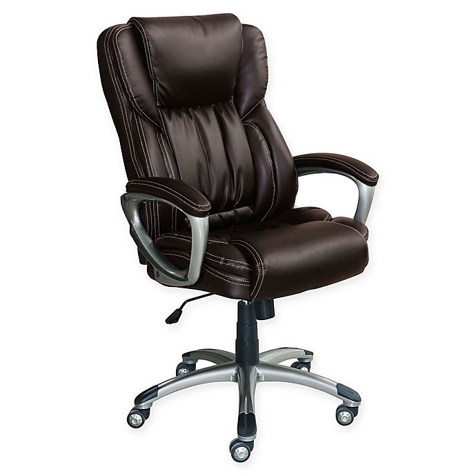 Alternate image 1 for Serta® Works Bonded Leather Executive Chair in Midnight Black
