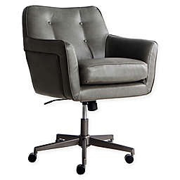 Serta® Ashland Upholstered Office Chair in Gathering Grey Faux Leather