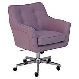 Serta® Ashland Upholstered Office Chair in Lilac Twill