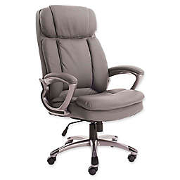 Serta® Big and Tall Bonded Leather Executive Chair in Opportunity Grey