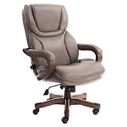 Serta® Big and Tall Bonded Leather Executive Chair in Mindset Grey
