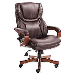 Serta® Big and Tall Bonded Leather Executive Chair in Biscuit