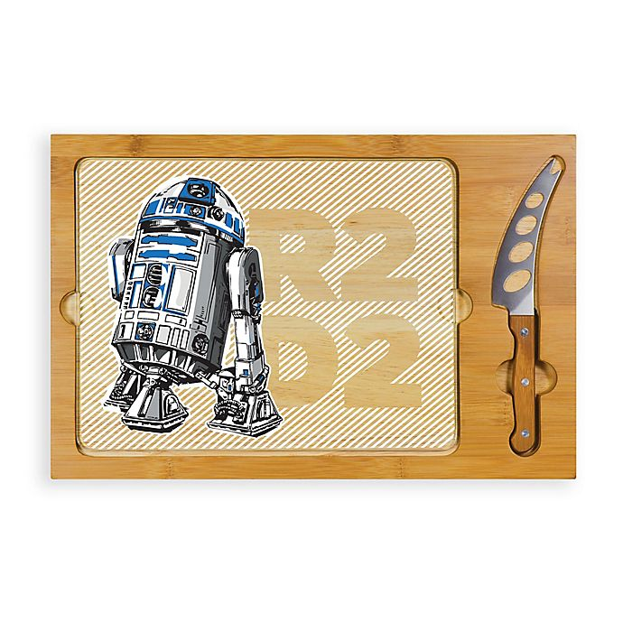 Alternate image 1 for Star Wars™ R2-D2 Icon Glass Top Tray & Knife Set