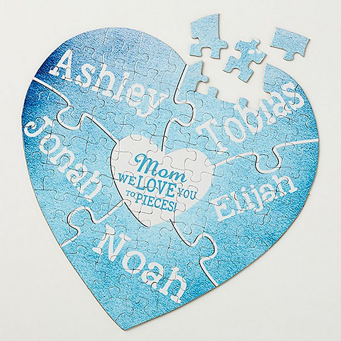 Alternate image 1 for We Love You to Pieces 75-Piece Heart Puzzle