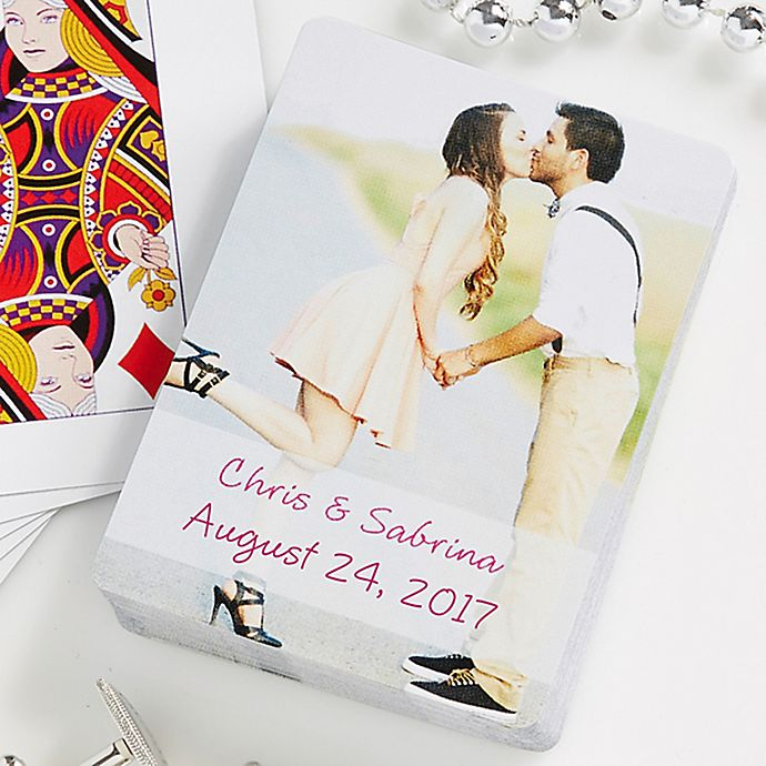 Alternate image 1 for Our Wedding 54-Count Photo Playing Cards
