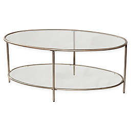 Hillsdale Corbin Coffee Table in Silver with Black Rub