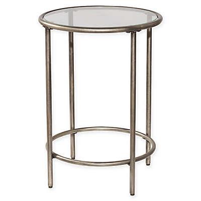 Hillsdale Corbin End Table in Silver with Black Rub