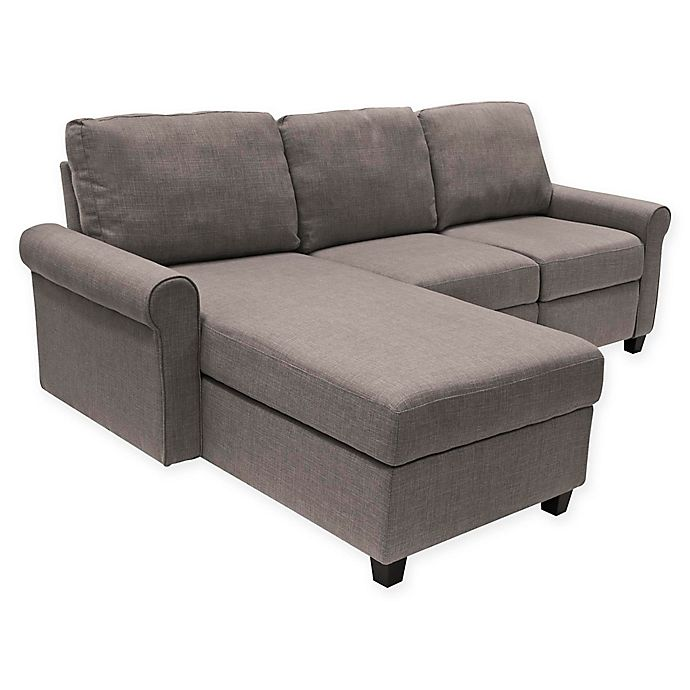 Serta Copenhagen Left Facing Reclining Sectional Sofa With Storage