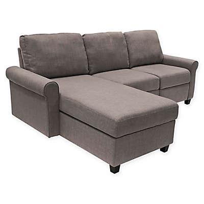 Serta® Copenhagen Left-Facing Reclining Sectional Sofa with Storage