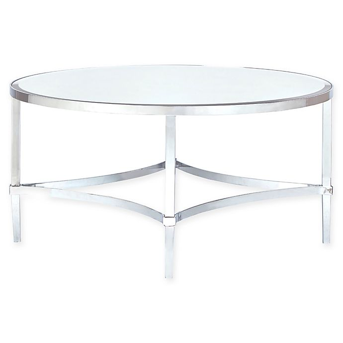 Alternate image 1 for Madison Park Signature Triton Round Coffee Table in Silver