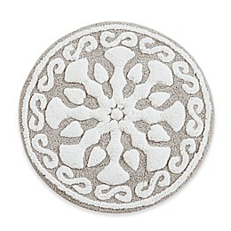 "Madison Park 25"" Round Casablanca Medallion Tufted Bath Rug in Grey"